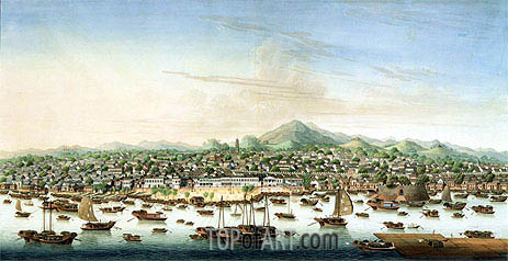 View of Canton, c.1800 | Chinese School | Painting Reproduction