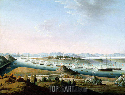 View of Whampoa, c.1840 | Chinese School | Painting Reproduction