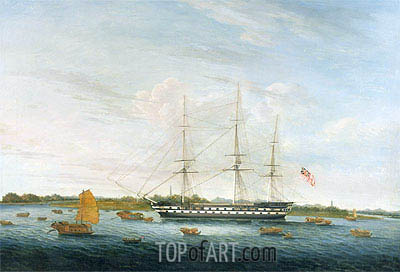 The Honourable East India Company's 'The Earl of Balcarras at Canton', 1816 | Chinese School | Painting Reproduction