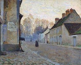 Rue du Canal, Moret-sur-Loing, 1908 by Clarence Gagnon | Painting Reproduction