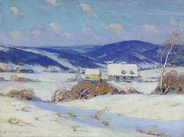 In the Laurentians, Winter, 1910 by Clarence Gagnon | Painting Reproduction