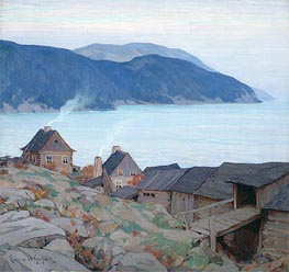 Evening on the North Shore | Clarence Gagnon | Gemälde Reproduktion