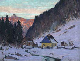 A Laurentian Homestead, c.1919 by Clarence Gagnon | Painting Reproduction