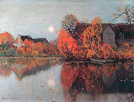 The Pond, October | Clarence Gagnon | Gemälde Reproduktion