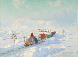 The Ice Bridge, Quebec | Clarence Gagnon | Painting Reproduction
