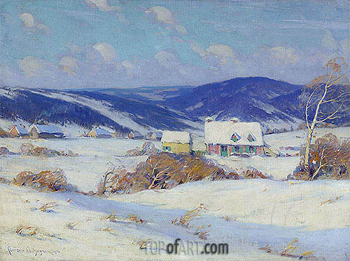 In the Laurentians, Winter, 1910 | Clarence Gagnon | Painting Reproduction