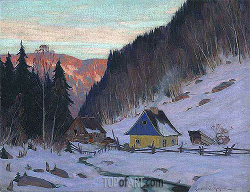 A Laurentian Homestead, c.1919 | Clarence Gagnon | Painting Reproduction