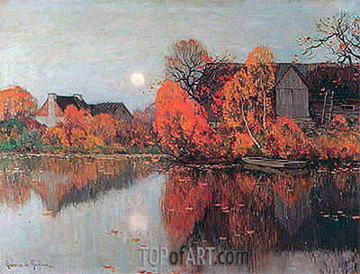 The Pond, October, c.1921 | Clarence Gagnon | Painting Reproduction