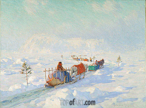 The Ice Bridge, Quebec, undated | Clarence Gagnon | Painting Reproduction