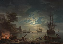 Moonlight | Claude-Joseph Vernet | Painting Reproduction