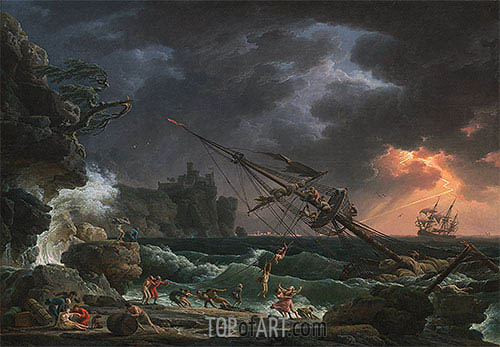 The Shipwreck, 1772 | Claude-Joseph Vernet | Painting Reproduction