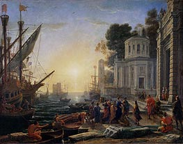 Cleopatra Disembarking at Tarsus, 1642 by Claude Lorrain | Painting Reproduction