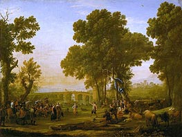 The Village Festival, 1639 by Claude Lorrain | Painting Reproduction