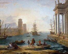 Seaport, Effects of Fog (Embarkation of Ulysses) | Claude Lorrain | Gemälde Reproduktion