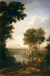 Moses Saved from the Waters of the Nile | Claude Lorrain | Gemälde Reproduktion