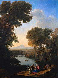 Rest on the Flight into Egypt, c.1640/43 by Claude Lorrain | Painting Reproduction