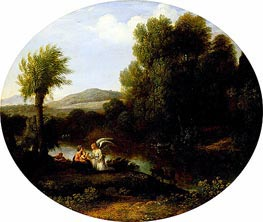Rest on the Flight into Egypt | Claude Lorrain | Gemälde Reproduktion
