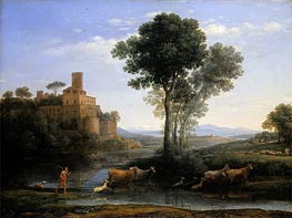 Landscape with the Voyage of Jacob | Claude Lorrain | Gemälde Reproduktion