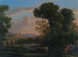 Pastoral Landscape, 1648 by Claude Lorrain | Painting Reproduction