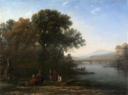 The Ford, c.1636 by Claude Lorrain | Painting Reproduction