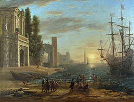A Seaport, 1644 by Claude Lorrain | Painting Reproduction