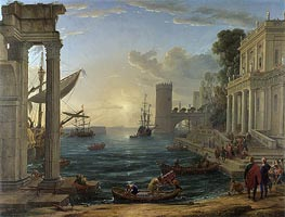 Seaport with the Embarkation of the Queen of Sheba, 1648 by Claude Lorrain | Painting Reproduction