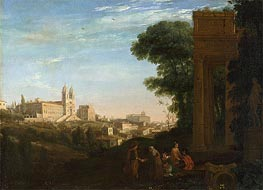 A View in Rome, 1632 by Claude Lorrain | Painting Reproduction