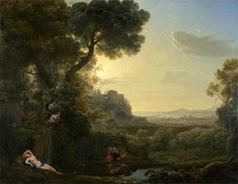 Landscape with Narcissus and Echo, 1644 by Claude Lorrain | Painting Reproduction