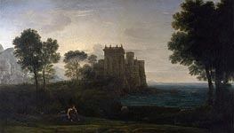 The Enchanted Castle | Claude Lorrain | Gemälde Reproduktion