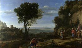 Landscape with David at the Cave of Adullam, 1658 by Claude Lorrain | Painting Reproduction