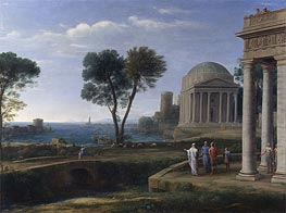 Landscape with Aeneas at Delos, 1672 by Claude Lorrain | Painting Reproduction