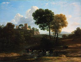 Villa in the Roman Campagna, c.1646/47 by Claude Lorrain | Painting Reproduction