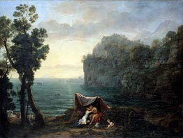 Landscape with Acis and Galatea, 1657 by Claude Lorrain | Painting Reproduction