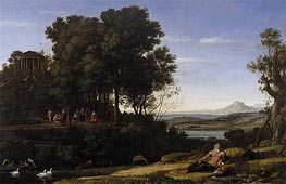 Landscape with Apollo and the Muses, 1652 by Claude Lorrain | Painting Reproduction