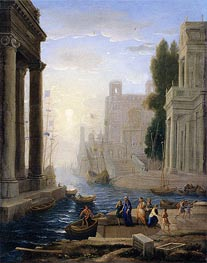 Embarkation of St Paula, a.1642 by Claude Lorrain | Painting Reproduction