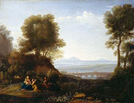 Rest on the Flight into Egypt, a.1676 by Claude Lorrain | Painting Reproduction