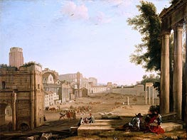 The Campo Vaccino, Rome, c.1640/45 by Claude Lorrain | Painting Reproduction