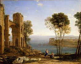 Coast View with Apollo and the Cumaean Sibyl, c.1645/49 by Claude Lorrain | Painting Reproduction