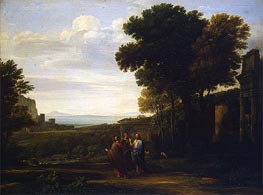 Landscape with Christ on the Road to Emmaus | Claude Lorrain | Gemälde Reproduktion