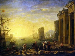 Morning in the Harbour | Claude Lorrain | Gemälde Reproduktion