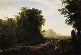 Landscape with a Piping Shepherd | Claude Lorrain | Painting Reproduction