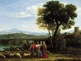 Landscape with Jacob and Laban and His Daughters | Claude Lorrain | Painting Reproduction