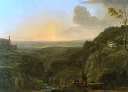 A View of the Campagna from Tivoli | Claude Lorrain | Gemälde Reproduktion