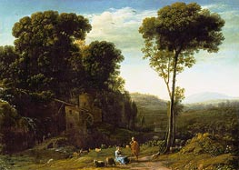 Pastoral Landscape with a Mill | Claude Lorrain | Painting Reproduction