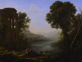 Pastoral Landscape | Claude Lorrain | Painting Reproduction