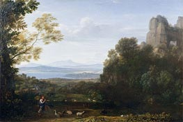 Landscape with Apollo and Mercury | Claude Lorrain | Gemälde Reproduktion