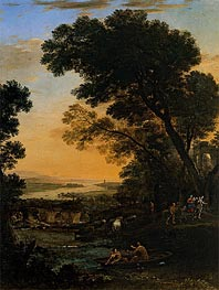 Pastoral Landscape with a Flight into Egypt | Claude Lorrain | Gemälde Reproduktion