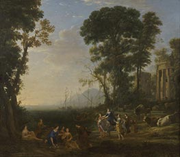 Coast Scene with Europa and the Bull | Claude Lorrain | Painting Reproduction