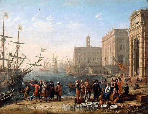 View of a Port with the Capitol, c.1636 | Claude Lorrain | Painting Reproduction