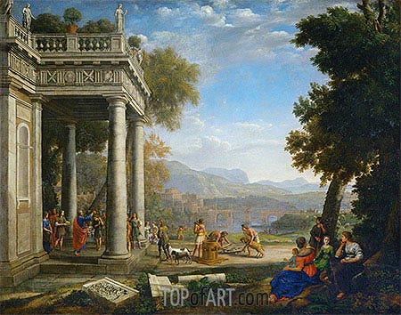 David Crowned by Samuel, 1639 | Claude Lorrain | Painting Reproduction